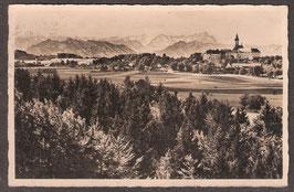 82346   (W-8138)   Andechs   -Kloster Andechs am Ammersee mit Zugspitzgruppe-   (PK-00203)