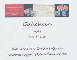 Geschenkgutschein im Wert von Euro 20,00