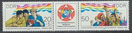 DDR 2959-2960 postfrisch Dreierstreifen