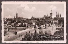 970..   (W-8700)   Würzburg   -Blick auf alte Mainbrücke und Stadt-   (PK-00103)