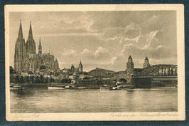 5....   (W-5000)   Köln   -Partie an der Hohenzollernbrücke-   (PK-00461)