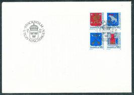 1145-1148 Ersttagsbriefe (SE)