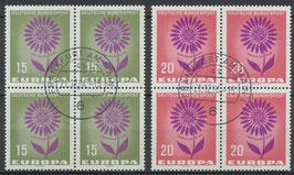 BRD 445-446 gestempelt Viererblöcke
