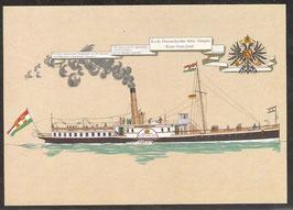 """Postkarte """"K. und K. Salon-Dampfer Kaiser Franz Josef"""" (PK-Schiff-0005)"""