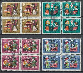 BRD 447-450 gestempelt Viererblöcke