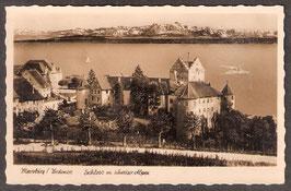 88709   (W-7758)   Meersburg   -Schloss m. Schweizer Alpen-   (PK-00329)