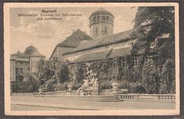 9544.   (W-8580)   Bayreuth   -Wittelsbacher Brunnen mit Schloßkirche und Schloßturm-   (PK-00134)