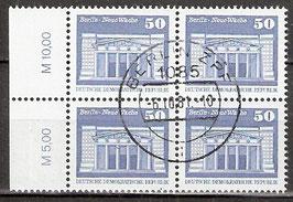 2549 RWZ I Versandstellenstempel Viererblock (DDR)