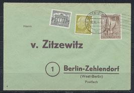 BERL 106 Beleg Mischfrankatur