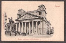520..  (W-5100)   Aachen   -Theater und Kaiser Wilhelm-Denkmal-   (PK-00199)