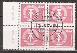2633 RWZ I Versandstellenstempel Viererblock (DDR)