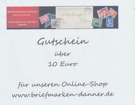 Geschenkgutschein im Wert von Euro 10,00