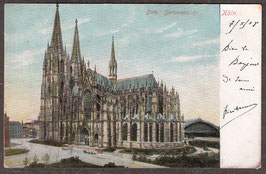 5....   (W-5000)    Köln   -Dom  Seitenansicht-  (PK-00053)