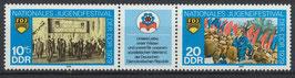 2426-2427 postfrisch Dreierstreifen (DDR)