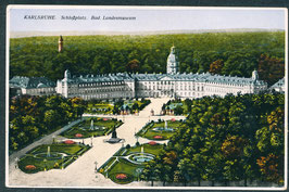 76...   (W-7500)   Karlsruhe   -Schloßplatz bad. Landesmuseum-   (PK-00480)