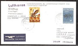 Erstflug Lufthansa Frankfurt-Tokyo  via Moskau  (T-Luftpost-FB-0039)