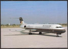 "Postkarte ""Fokker 100""  (PK-Flugzeug-0003)"