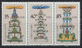 DDR 3137/3138/3139 postfrisch Zusammendruck