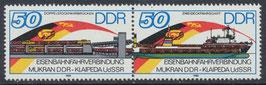 DDR 3052-3053 postfrisch Dreierstreifen