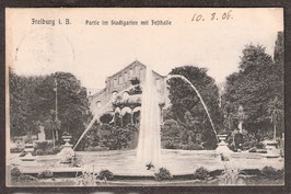79...  (W-7800)   Freiburg i.B.   -Partie im Stadtgraben mit Festhalle-   (PK-00025)
