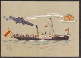 """Postkarte """"Badisches Bodensee-Dampfschiff Leopold""""  (PK-Schiff-0001)"""