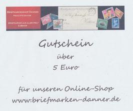 Geschenkgutschein im Wert von Euro 5,00