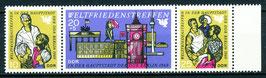 DDR 1478-1480 postfrisch Dreierstreifen mit Bogenrand rechts