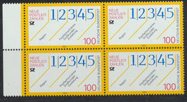 BRD 1659 postfrisch Viererblock mit Bogenrand links