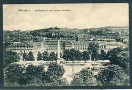 70...    (W-7000) Stuttgart   -Schlossplatz mit neuem Schloss-   (PK-00483)