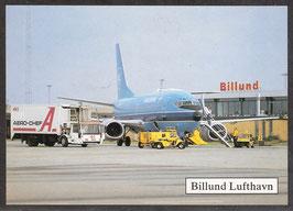 "Postkarte ""Flughafen Billund"" (PK-Flugzeug-0015)"