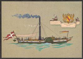 "Postkarte ""Badisches Dampfboot Helvetia""  (PK-Schiff-0008)"