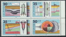 2557-2560 postfrisch Viererblock (DDR)