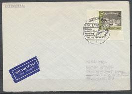 BERL  222 auf Brief; Einzelfrankatur mit Eckrand links unten