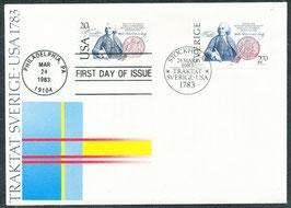 1232 mit USA 1628 Ersttagsbrief (SE)