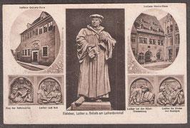 06295   (O-425..)   Eisleben   -Luther und Reliefs am Lutherdenkmal-   (PK-00411)