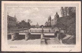 8....    (W-8000)    München   -Blick von der Maximiliansbrücke-   (PK-00301)