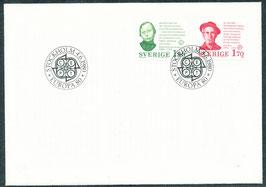 1106-1107 Ersttagsbrief FDC (SE)
