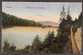 3864.  (W-3380)   Goslar   -Herzberger Teich mit Steinberg-   (PK-00032)