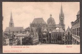 520..   (W-5100)   Aachen   -St. Foilanskirche und Dom-    (PK-00198)