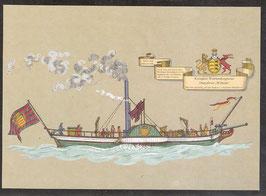 """Postkarte """"Königlich Württembergisches Dampfboot Wilhelm""""  (PK-Schiff-0002)"""