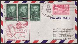 First Jet Air Mail Service AM4 San Francisco-Chicago-New York (T-Luftfahrt-FB 0003)