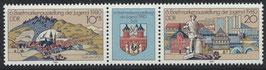 DDR 2532-2533 postfrisch Dreierstreifen