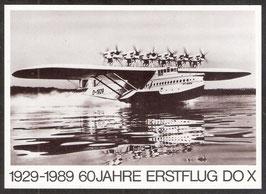 Postkarte 1929-1989 60 Jahre Erstflug DO X (PK-Flugzeug-0002)
