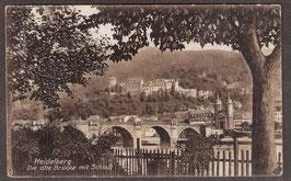 691..   (W-6900)   Heidelberg   -Die alte Brücke mit Schloß-   (PK-00195)