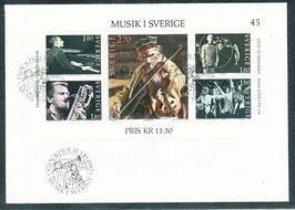 1253-1257 (Block 11) Ersttagsbrief (SE)