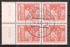2588 RWZ I Versandstellenstempel Viererblock (DDR)