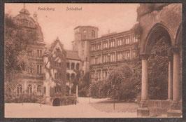 691...   (W-6900)   Heidelberg   -Schloßhof-   (PK-00180)