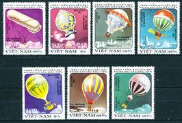 1298-1304 gestempelt (VT-Zeppelin-Ballone)