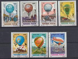 3600-3606 gestempelt (HU-Ballone)