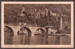 691..   (W-6900)   Heidelberg   -Schloss und alte Neckarbrücke-   (PK-00389)